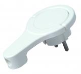 Kunststoff-Schutzkontakt-Winkelstecker, extraflach(8mm),
