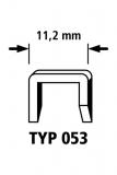 Breitrückenklammern mit D-Spitze, harter Stahl, Typ 053   1000 x 14mm